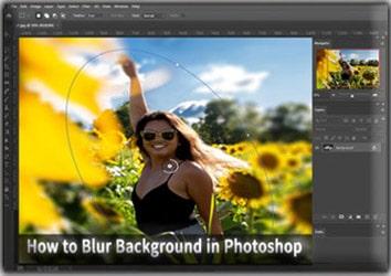 Blur Background in Photoshop CC