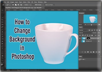 Change image Background in Photoshop