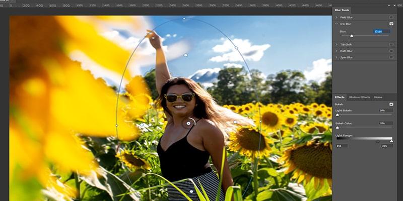 Establish a focal point to blur background
